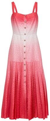 Saloni Karen Ombre Silk Midi Dress