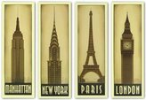 "McGaw Graphics London-New York-Paris-Manhattan Set by Steve Forney 34.25""x10.25"" Art Print Poster"