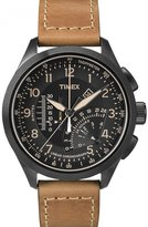 Timex Men's Quartz Watch IQ Linear Indicator Chrono T2P277 with Leather Strap