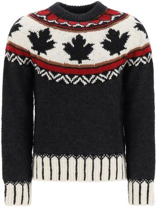 DSQUARED2 Fair Isle Intarsia Sweater