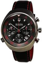 Bulova Men's Accutron II 98B252 Gunmetal Leather Quartz Watch