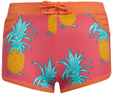 John Lewis Girls' Pineapple Print Board Shorts, Pink/Multi