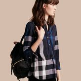 Burberry Check Cotton Tunic Shirt