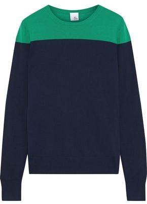 Iris & Ink Phlox Two-tone Merino Wool Sweater