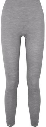 FALKE ERGONOMIC SPORT SYSTEM Paneled Technical Stretch Wool-blend Leggings - Gray