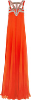 Amanda Wakeley Open-back embellished silk-chiffon gown