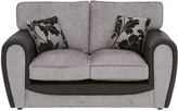 Fleur Fabric and Faux Snakeskin 2 Seater Standard Back Sofa
