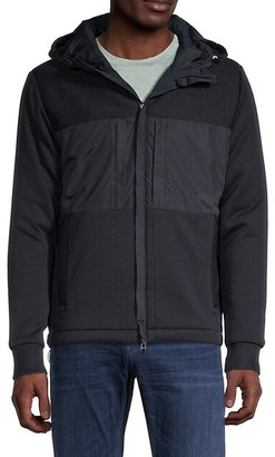 HUGO BOSS Hooded Cotton-Blend Jacket
