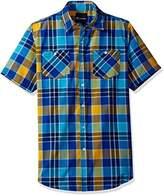 Akademiks Men's Short Sleeve Button Down