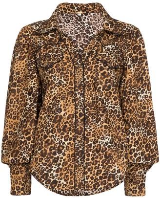 Johanna Ortiz leopard print blouse