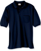 Hanes 5.2 oz.; 50/50 EcoSmart Jersey Pocket Polo -L