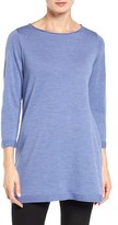 Eileen Fisher Women's Merino Wool Jersey Tunic Sweater