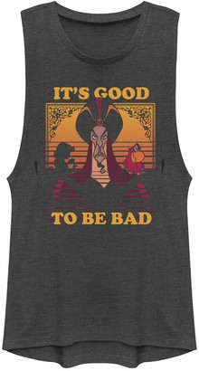 "Disney Juniors' Disney's Aladdin Jafar ""It's Good to Be Bad"" Graphic Muscle Tank"