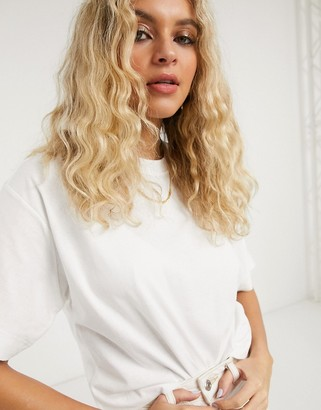 Topshop boxy t-shirt in white