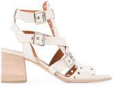 Derek Lam Java cage block-heel sandals - women - Suede - 36