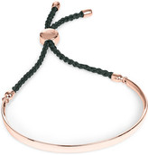Monica Vinader Fiji 18ct rose gold-plated friendship bracelet