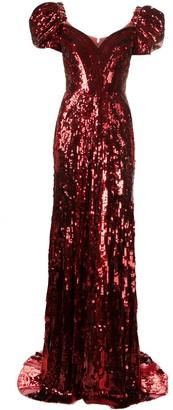 Jenny Packham Natassia sequin-embellished gown