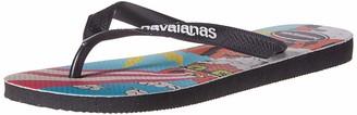 Havaianas Men's Top Mulga Flip Flop Sandal Black/Black 11/12 M US