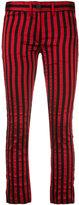 Ann Demeulemeester vertical stripe trousers - women - Silk/Cotton/Polyester - 36