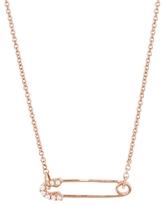 Sydney Evan 14K Small Diamond Safety Pin Necklace