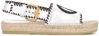 Gucci Embroidered Logo Espadrille Sandals