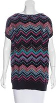 M Missoni Abstract Pattern Knit Top