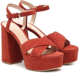 Gianvito Rossi Bebe suede platform sandals