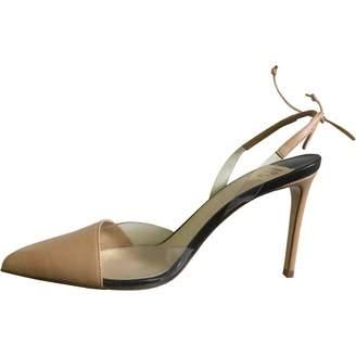 Francesco Russo Beige Leather Sandals