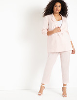 ELOQUII Satin Pant with Patch Pockets