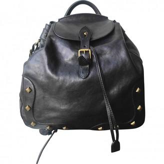 Ralph Lauren Black Leather Backpacks