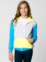 American Apparel Color Block Youth Flex Fleece Zip Hoodie