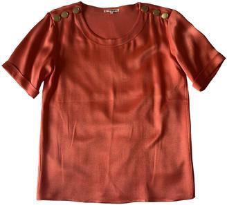 Saint Laurent Orange Silk Tops