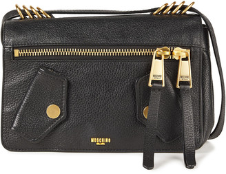 Moschino Pebbled-leather Shoulder Bag