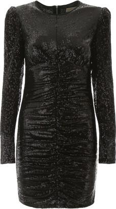 MICHAEL Michael Kors Draped Sequins Dress