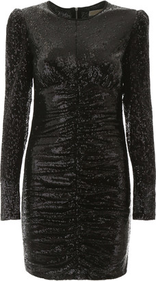 MICHAEL Michael Kors Draped Sequins Dress