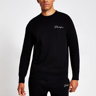River Island Prolific black slim fit sweatshirt