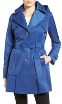 Via Spiga Women's 'Scarpa' Hooded Single Breasted Trench Coat