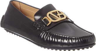 Versace Greek Key Leather Loafer