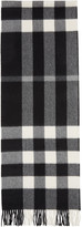 Burberry Black Large Classic Cashmere Check Scarf