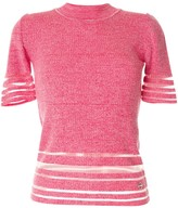 Emilio Pucci sheer panel knitted T-shirt