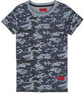 Haus of JR Howard Pixelated-Camouflage Cotton T-Shirt