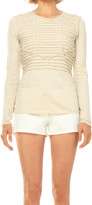 Max Studio Long Sleeved Top With Applique Detail