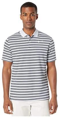 Nike Dry Victory Polo Stripe (Black/Gridiron/White/White) Men's Clothing