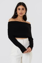 Cropped Folded Knitted Sweater