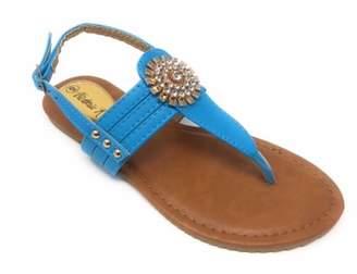 Victoria K. Victoria K Women's Gold Medallion Sandals