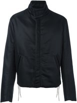 Maison Margiela lace detail jacket - men - Cotton/Leather/Polyamide/Polyester - 48