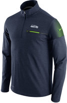 Nike Men's Seattle Seahawks Elite Coaches Quarter-Zip Pullover