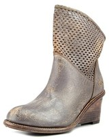 Bed Stu Dutchess Women Round Toe Leather Gray Ankle Boot.