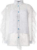 House of Holland polka dot sheer shirt