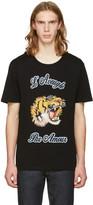 Gucci Black Tiger Appliqué T-Shirt